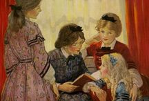 For the Love of Reading / Paintings, photographs, and prints of girls, boys, women, and men reading anywhere, anytime, all the time....simply enjoying the love of reading. / by Laurel White