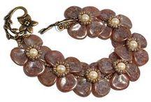 Jewelry with Rose petals beads / by Jola Kamieńska