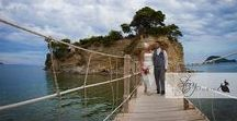 Real Wedding in Zante | Hayley and Peter's beautiful Cameo Island wedding in Zakynthos / Cameo Island a short island connected to the main land by a wooden walkway, ceremonies take place in the private cove with a soft sandy beach, idyllic for those wanting a private wedding ceremony