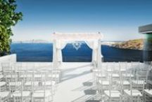Sunset View Terrace Wedding Venue in Santorini / New gorgeous images of the Sunset View Terrace for you to enjoy. This venue is almost fully booked for 2018 and now booking for 2019