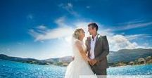 Real Wedding in Zante | A Beautiful Blue Sky Wedding in Zante / Feast your eyes on these beautiful sneak peek photos from Rachel and Christopher's beautiful blue sky wedding in Zante. The couple got married on Cameo Island followed by a reception at Agios Sostis on the 31st of May 2014