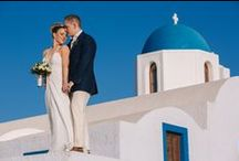 Real Wedding in Santorini | Elegant Santorini Princess Hotel Wedding / We're very excited to share these gorgeous official Vangelis shots from Jessica and Paul's Santorini Princess Hotel wedding which took place on the 23rd of May 2014!