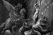 ♆ Art: Gustave Doré / Paul Gustave Louis Christophe Doré (January 6, 1832 – January 23, 1883) was a French artist, printmaker, illustrator and sculptor. Doré worked primarily with wood engraving. / by Ămunet