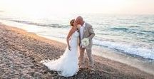 Real Wedding in Crete | Paula and John's gorgeous beach themed wedding in Crete / On the 12th of August 2014 Paula and John said their I'dos at our Beach Tavena wedding venue in Crete. Here are a selection of stunning photos from their special day!