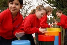 Outdoor Drums For School Playgrounds & Parks / Outdoor Drums for play areas, school playgrounds, forests, parks, hospitals, sensory gardens and music therapy outdoors.