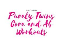 Purely Twins Core and Ab Workouts / Everything starts with a strong core! How to get flat abs and slimmer waist line. Everything starts from having a strong core. A combination of plank workouts and other ab exercises including core workouts that are diastasis safe. Get a strong, flatter belly with these workouts at home!