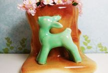 CC♥ ~ Vintage ~ Pottery & China / A collection of a variety of pottery, dishes and teacups...