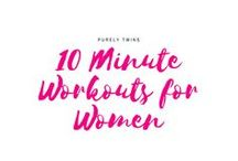 10 Minute Workouts for Women / Get in shape at home in just 10 minutes. Perfect workouts for busy moms and female entrepreneurs. Workouts that give you strength , confidence and more time so you can be there for your family and run your business.  Burn fat and get in shape in the shortest amount of time. Working out doesn't have to be boring! It should be fun and sustainable.