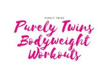 Purely Twins Bodyweight Workouts / Get in fit with using just your bodyweight. A collection of home workouts for women and moms looking to get in shape at home. Short effective workouts that are fun and attainable. Workouts for everyday life. Workouts for busy entrepreneurs. Yes you can still burn fat and build muscle with using your bodyweight.