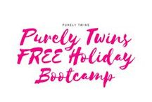 Purely Twins FREE Holiday Bootcamp / A FREE 5 week holiday bootcamp to keep you happy, healthy, and balanced this holiday season. Follow along this board for workouts, recipes, and inspiration. Keep up with us on instagram @purelytwinsfitness and @purelytwins
