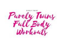 Purely Twins Full Body Workouts / Home workouts that will work the full body. Short workouts that will get you results. Workouts for women and moms. Workouts that are 30 minutes or less. HIIT workouts. Functional training.