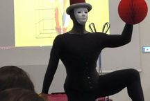 Thinking & Drawing Works - TRIADIC BALLET Bauhaus / Previous event on this theme held with another architecture company. See photos from how we interpreted these Bauhaus TRIADIC BALLET costumes with a Ballet dancer and specially created costumes and movements