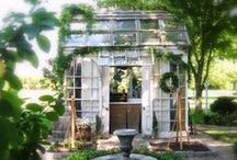 Garden Follys & Sheds / Garden shed/Cottage/ Studio/ Guest Room ideas / by Desiree Eaton