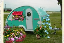 """""""Glamping"""" in Beulah  and Thelma vintage campers / I don't like to camp but would love it in one of these adorable campers. Glamping is glamorous camping."""