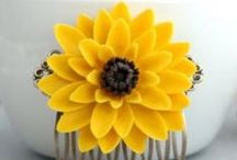 SunFlowers / Beautiful Sunflowers…. Makes Me Happy Just looking at Them !  Lovely Sunflower Wedding Inspiration ! :)