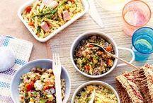 Instants d'été / Idées repas d'été, repas fraîcheur, recettes fraîcheurs, recettes pour l'été, recettes estivales, crudités, sans cuisson...