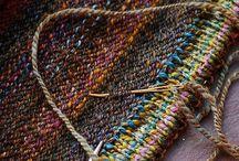 knit .. crochet .. W O O L . . Merino .. Mohair .. Alpaca .. / by Sue Pate