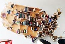 bookshelves | книжные полки
