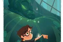 "Harry Potter   Гарри Поттер / иллюстрации к серии книг ""Гарри Поттер"" Дж. К. Роулинг"