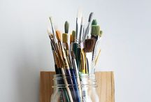 Art and crafts studios / Art rooms, inspiration and storage ideas