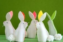 """Easter / """"You'll wake up on Easter morning, And you'll know that he was there, When you find those choc'late bunnies, That he's hiding ev'rywhere."""" / by Samantha Pearson"""