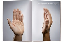 Print Advertising / Conceptual, minimal and typographic print advertising campaigns