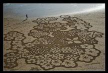 Sand / Beach Art / Beach / sand Art. Snow art too.