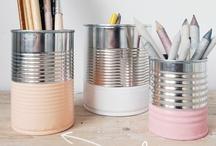 love tin cans / parce que j'aime pas jeter des trucs qui pourraient servir, être offert ou même me faire plaisir... / by - SAND -