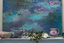 mise en scene toiles / des idées glanées sur la toile pour que je me mette enfin à faire des photos d'ambiance avec mes peintures... / by - SAND -