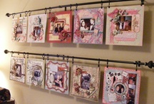 Scrapbook Room Ideas / My dream of a scrapbook/craft/sewing room has become reality and now I am looking for idea's to make it my ♥ space.