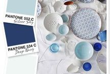 Pale Blue / Placid blue is one of the Pantone colours for 2014. Here's how to decorate with this year's colour. www.idealhomeshowshop.co.uk