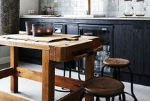 Modern & Rustic & Industrial / Rustic and industrial objects in the modern space and opposite