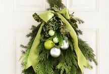 Festive Foliage / Who doesn't love the smell of fresh pine and gorgeous ivy wreaths - here are some of our favourite green looks for the season