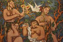 Üryan, Çıplak, Nü | Bare, Naked, Nude / Üryan, Çıplak, Nü sergisi, yüzyıl başında gizli saklı ve tek tük, Cumhuriyet dönemindeyse yoğun olarak üretilen nü resimlerin izini sürerken, Osmanlı'dan Cumhuriyet'e uzanan zihniyet dönüşümünün sanata yansıyan yönlerini bugünün penceresinden göstermeyi amaçlıyor. | Bare, Naked, Nude  aims to reveal the transformation from the Ottoman Empire into the Republican Era and how the few secretly made paintings at the turn of the 20th century created a new perspective for present times.