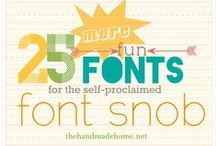 - FONTS - / All things typography: cute, rocking, ethereal, fun...
