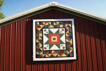 Quilt Barns / I learned about these just before my trip to North Carolina. My sis and I found several during our road trip through the Blue Ridge. So fun to discover them. / by Kay Welch
