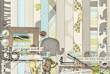 Zoo scrapbooking kits / Kits and elements with a zoo theme