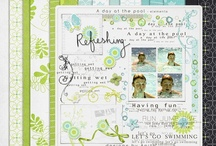 Swimming scrapbooking kits  / Scrapbooking products for Swimming