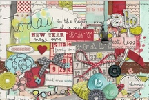 Resolutions & New Year scrapbooking kits / Digital scrapbooking supplies with a new year and/or resolutions theme.