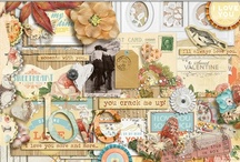 Love scrapbooking kits / Everything for Valentine's Day pages and layouts about love.