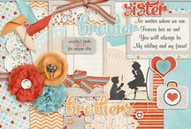 Siblings scrapbooking kits / Digital scrapbooking kits and elements with a sibling theme.