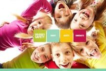 Kids Web Design / Kids website templates, website design ideas for schools and children.