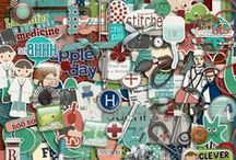 Health, Illness & Accident Scrapbooking Kits / Digital scrapbooking kits about being ill, having an accident etc.