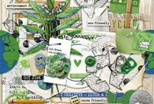 Recycling & Environment scrapbooking supplies / Digital scrapbooking supplies with a recycling & environment theme