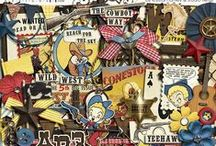 Cowboy, Cowgirl & Country / Digital Scrapbooking products with a cowboy/-girl and country theme.