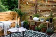 Small Cozy Patio / Inspiration for small apartment and condo garden patios.
