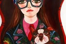 Art to Feast Upon / Artwork - oil paintings, water color paintings, mixed media art, illustrations