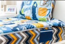 Zipit Bedding / The Revolutionary Bedding with zippers that let's you make your bed super fast... one zip and your bed is made!!