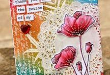 *My Mixed Media-Inspired/Collage cards