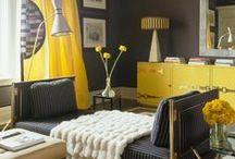Yellow / #yellow #color  / by Amanda Carol Interiors